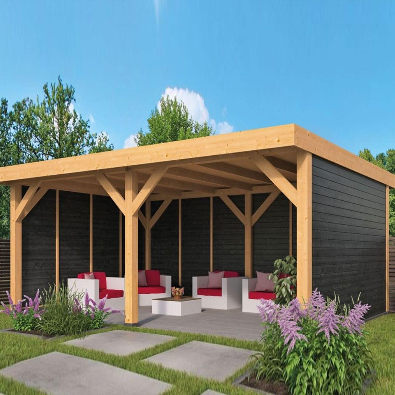 Garden shed Wezep siding larch- Douglas fir - Black - Tuindeco