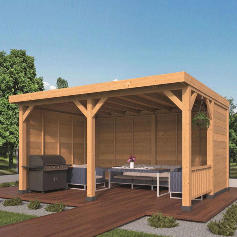 Garden shed Wezep larch- Douglas fir siding - Untreated - Tuindeco