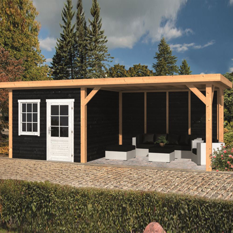 Garden shed Holten larch- Douglas fir siding - Black - Tuindeco