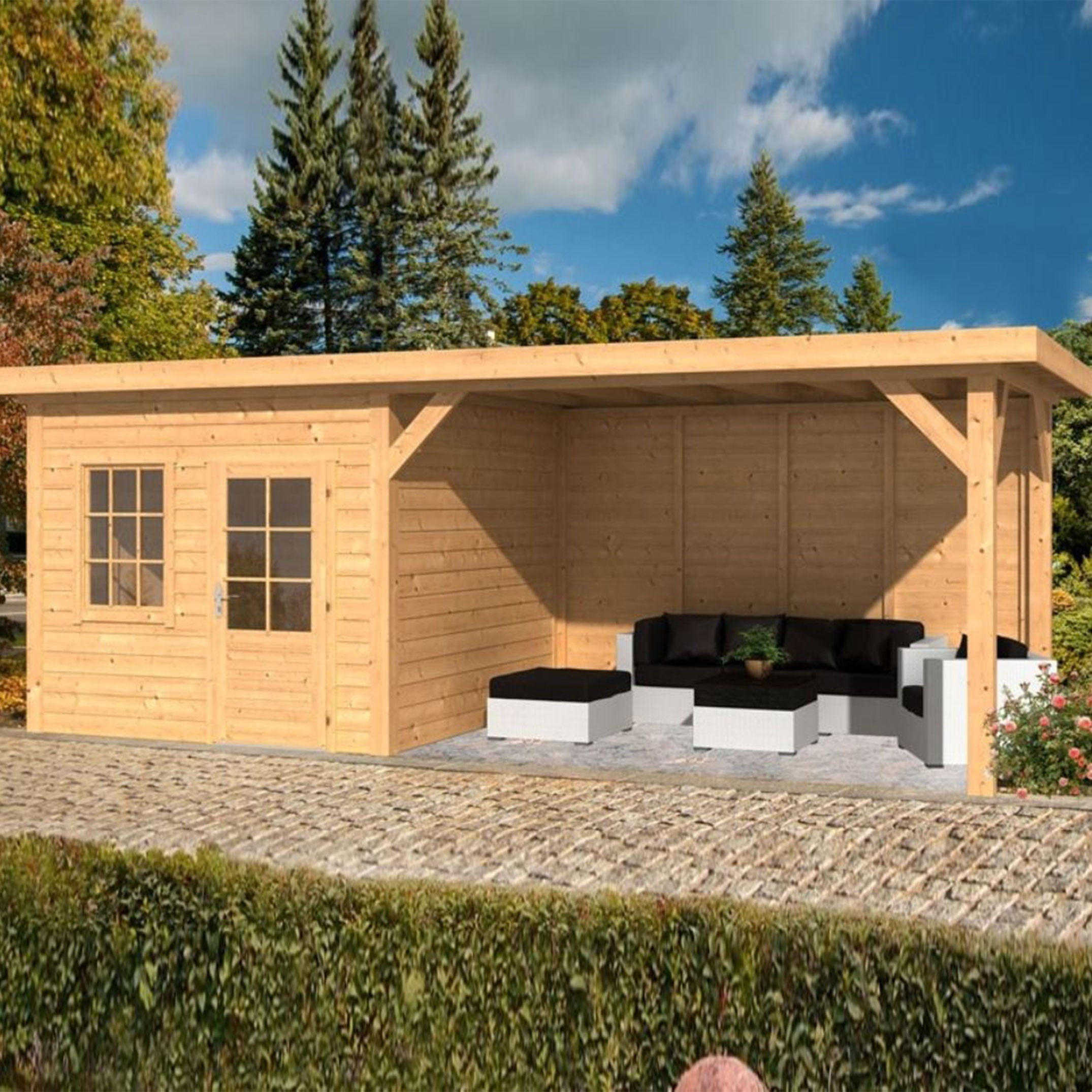 Garden shed Holten larch- Douglas fir siding - untreated - Tuindeco