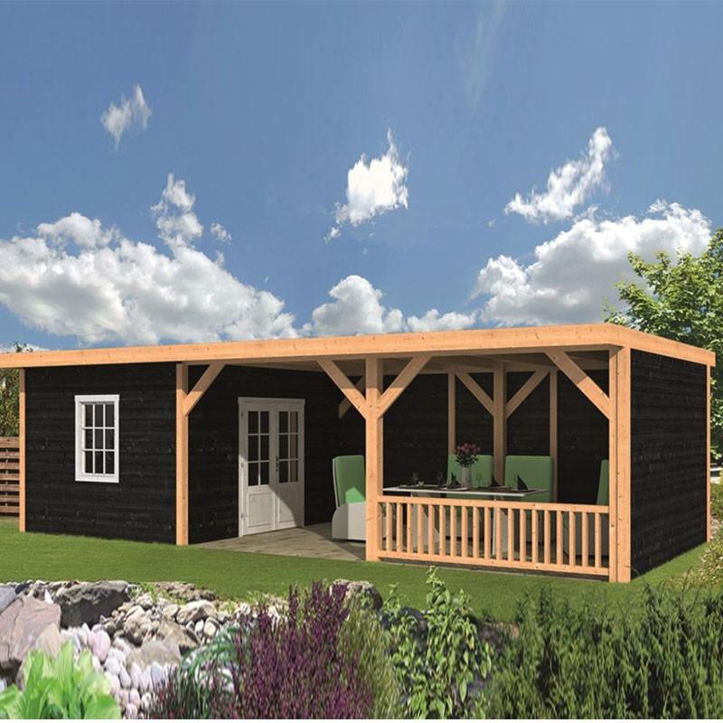 Garden shed Nijverdal larch- Douglas fir siding - Black - Tuindeco