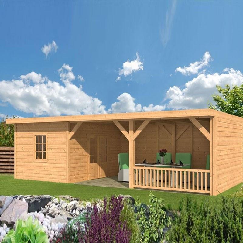 Garden shed Nijverdal larch- Douglas fir siding - untreated - Tuindeco
