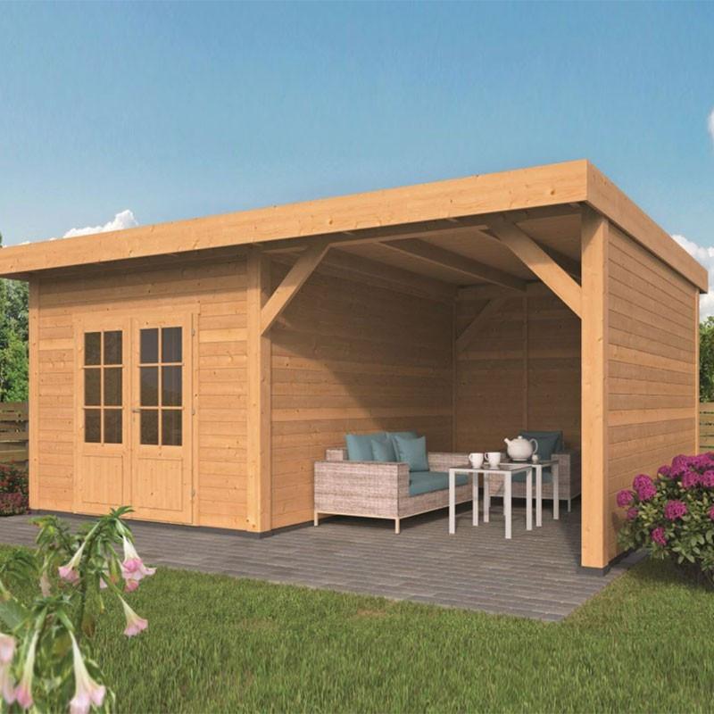 Garden shed Raalte larch- Douglas fir siding - Untreated - Tuindeco