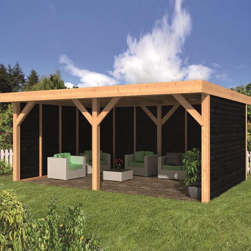 Garden shed Dalfsen larch- Douglas fir siding - Black - Tuindeco