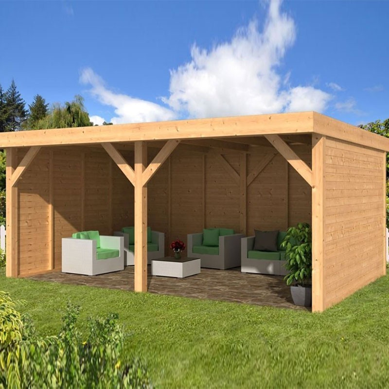 Garden shed Dalfsen larch- Douglas fir siding - Untreated - Tuindeco