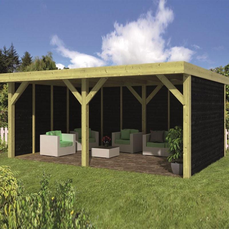 Pine garden shed - Maaseik - Black siding - Tuindeco