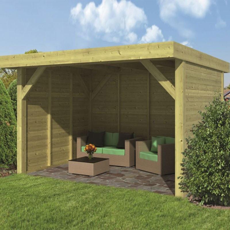 Pine garden shed - Bastenaken - Wood colour siding - Tuindeco