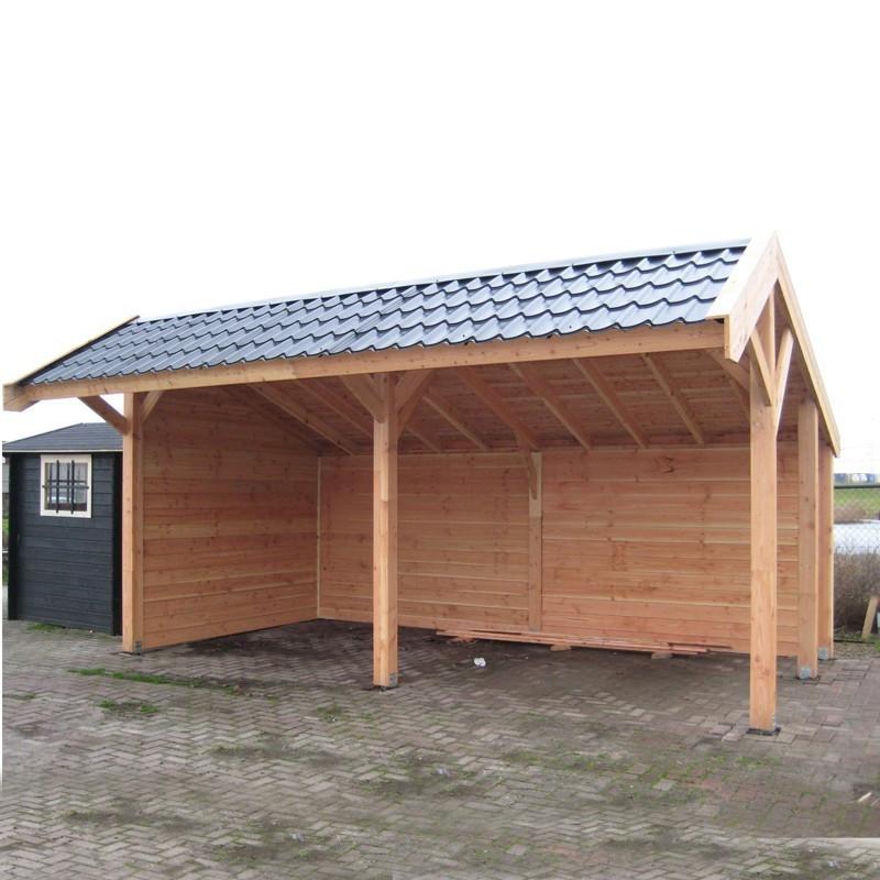 Pine garden shed - Tongeren - Wood colour siding - Tuindeco
