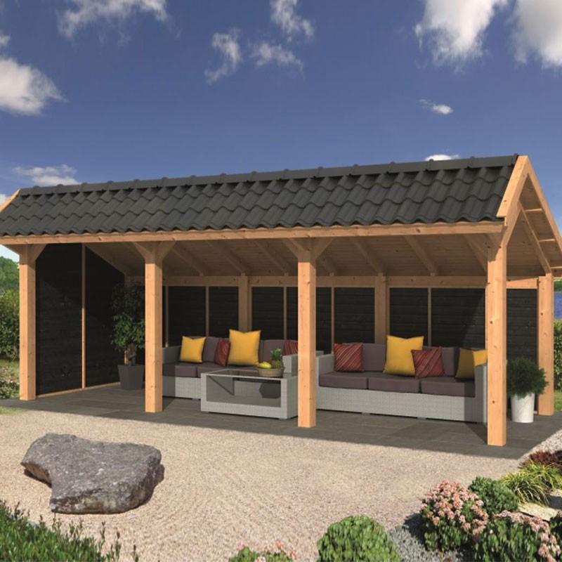 Modular garden building Bergen L type 6 - Black - Tuindeco