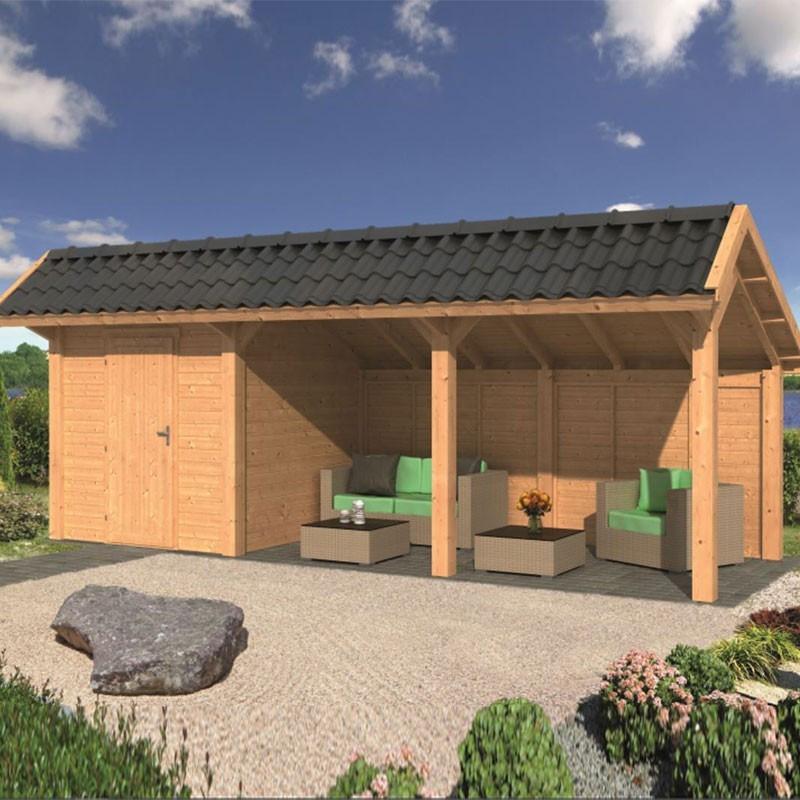 Modular garden building Bergen L type 7 - Tuindeco