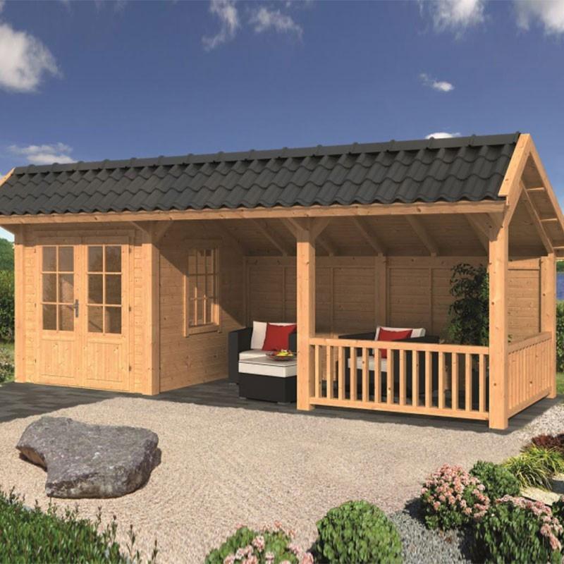 Modular garden building Bergen L type 8 - Tuindeco