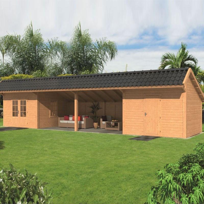 Modular garden building Bergen L type 12 - Tuindeco