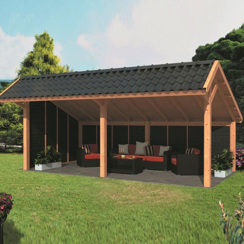 Modular garden building Bergen XL type 2 - Black - Tuindeco