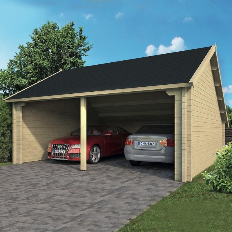 Garage wooden shed 36 m² - 70 mm - Nysse - Tuindeco