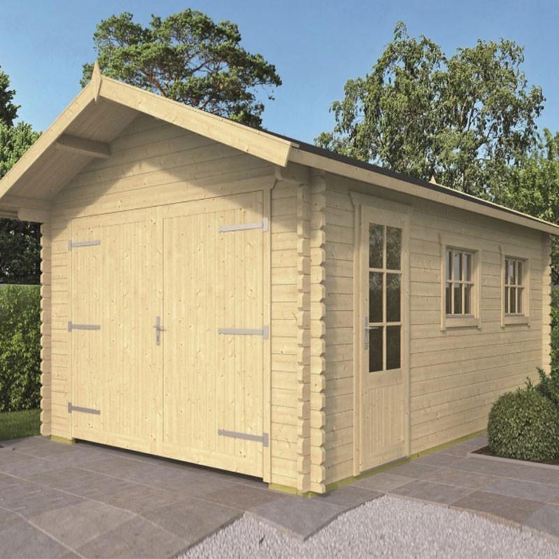 Wooden garage 20 m² - 45 mm - Geir - Tuindeco
