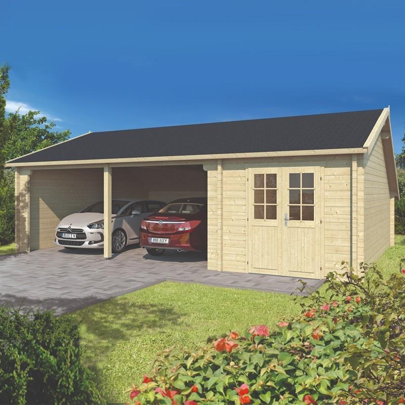 Garage Wooden shed - 70mm - Sigurd - Tuindeco