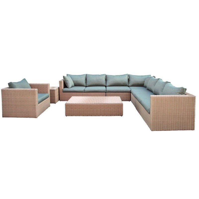 Oakland Wicker light brown lounge set - Tuindeco