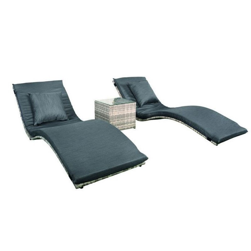 Lancaster table and lounge chair set - Tuindeco
