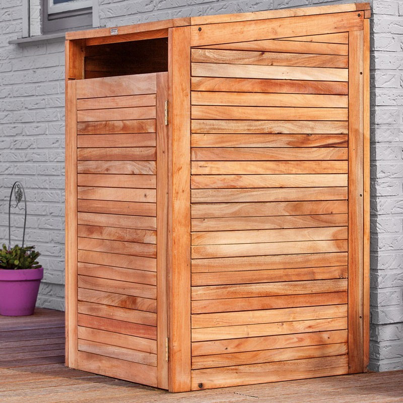 Hardwood Storage Container - Single - Tuindeco