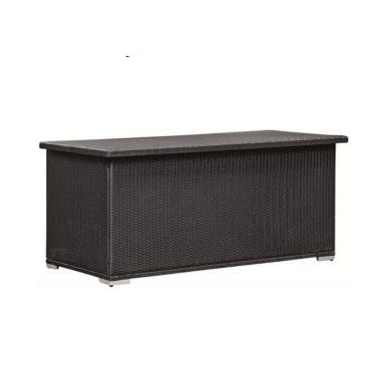 Black wicker wicker cushion trunk - Tuindeco