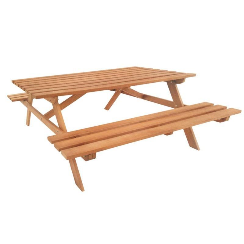 Economy Picnic Table - Hardwood - Tuindeco