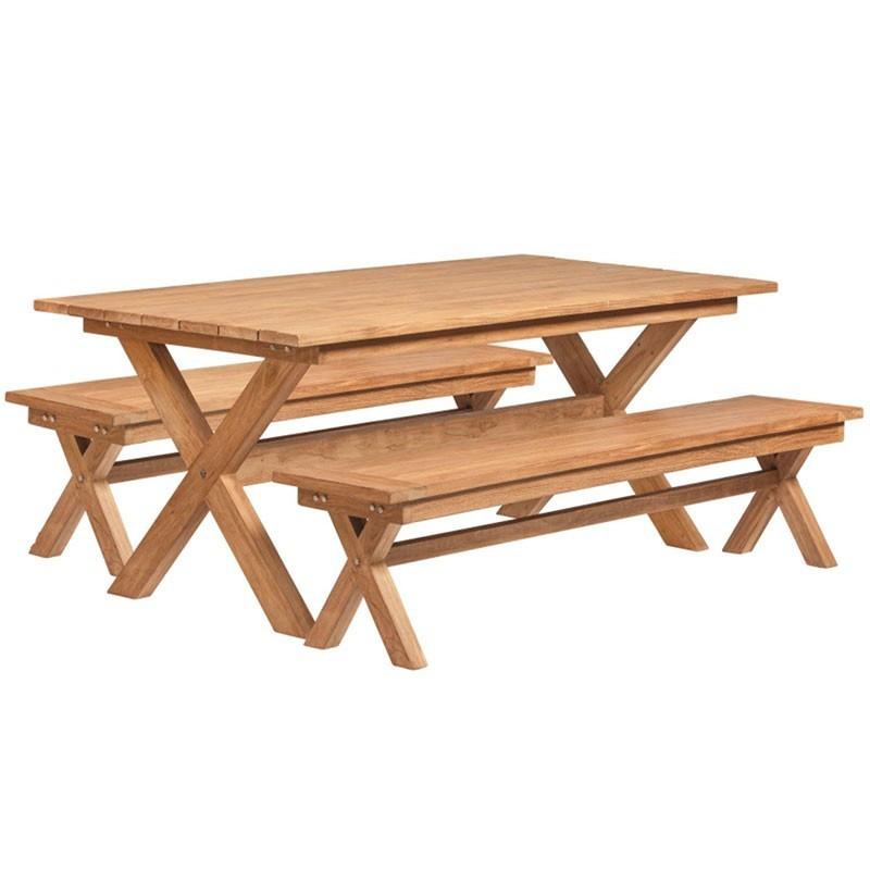 Picnic table - Luxury Roquefort - In Teak - Tuindeco