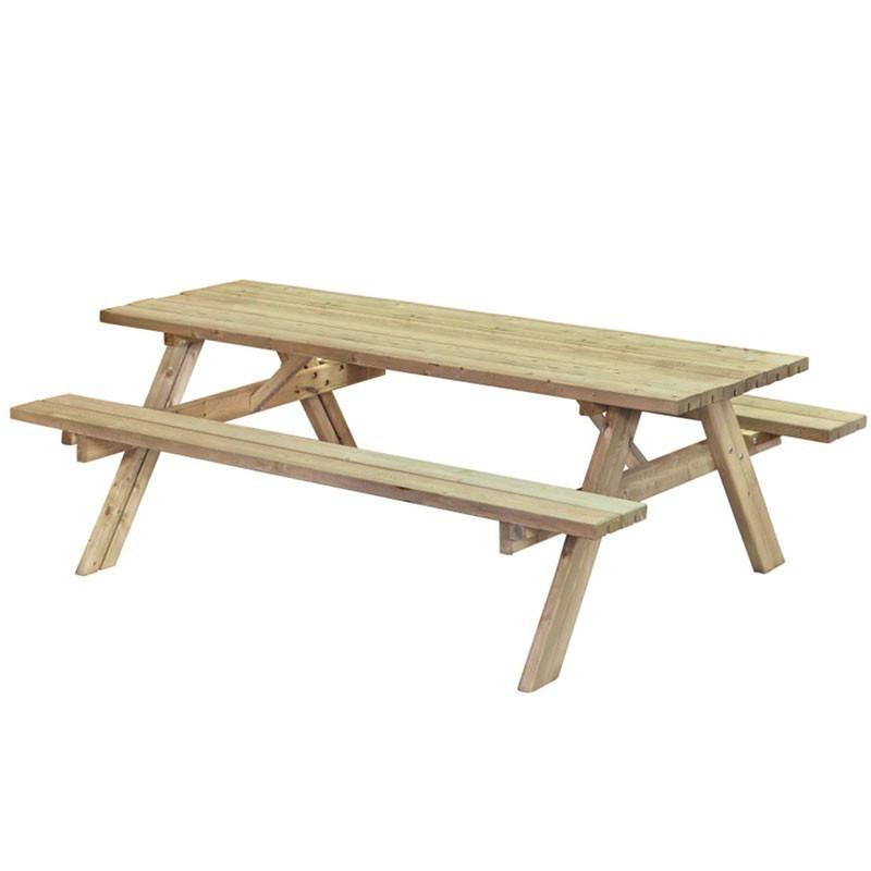 Picnic table Exellente- Impregnated fir tree - Tuindeco
