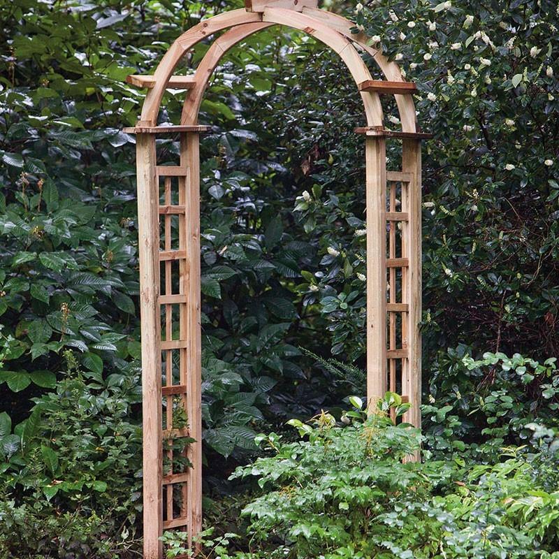 Complete set for arched pergola - W120 X D54 X H254 cm - Tuindeco