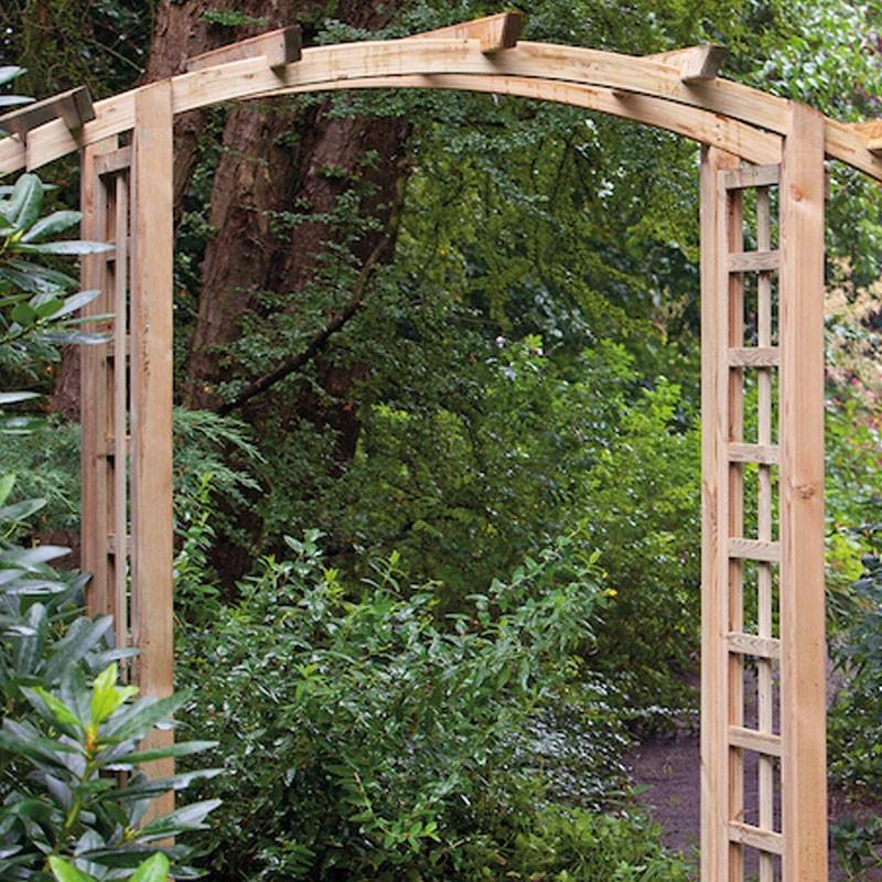 Complete set for arched pergola - l180 X P54 X H215 cm - Tuindeco