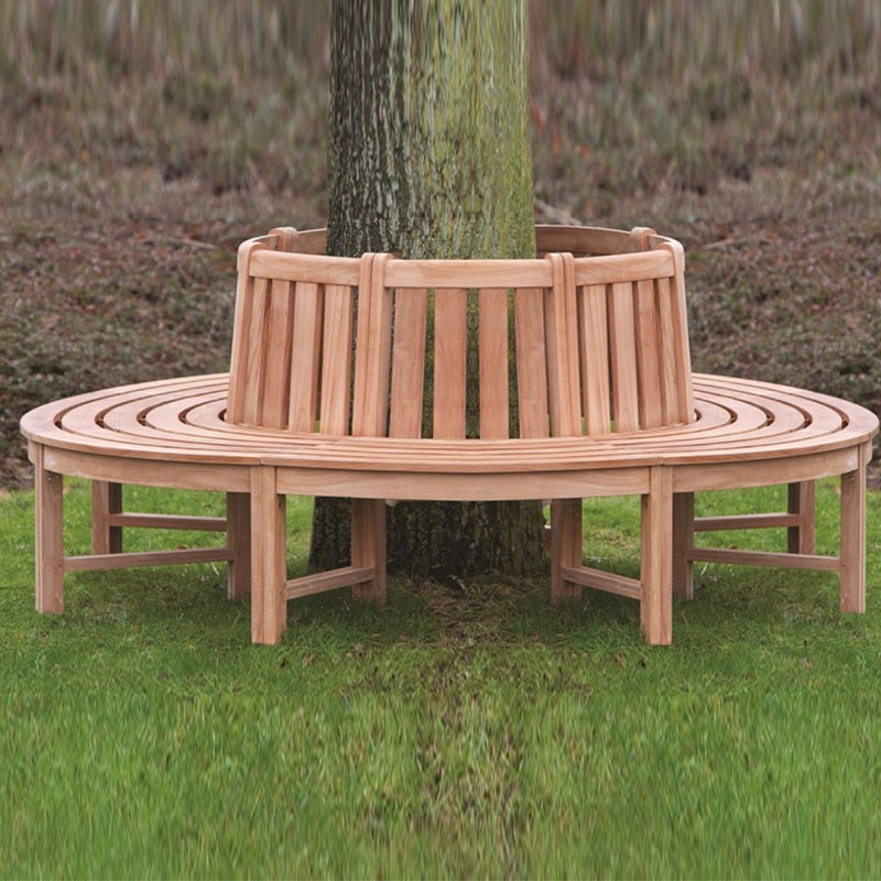 Teak tree bench - Tuindeco