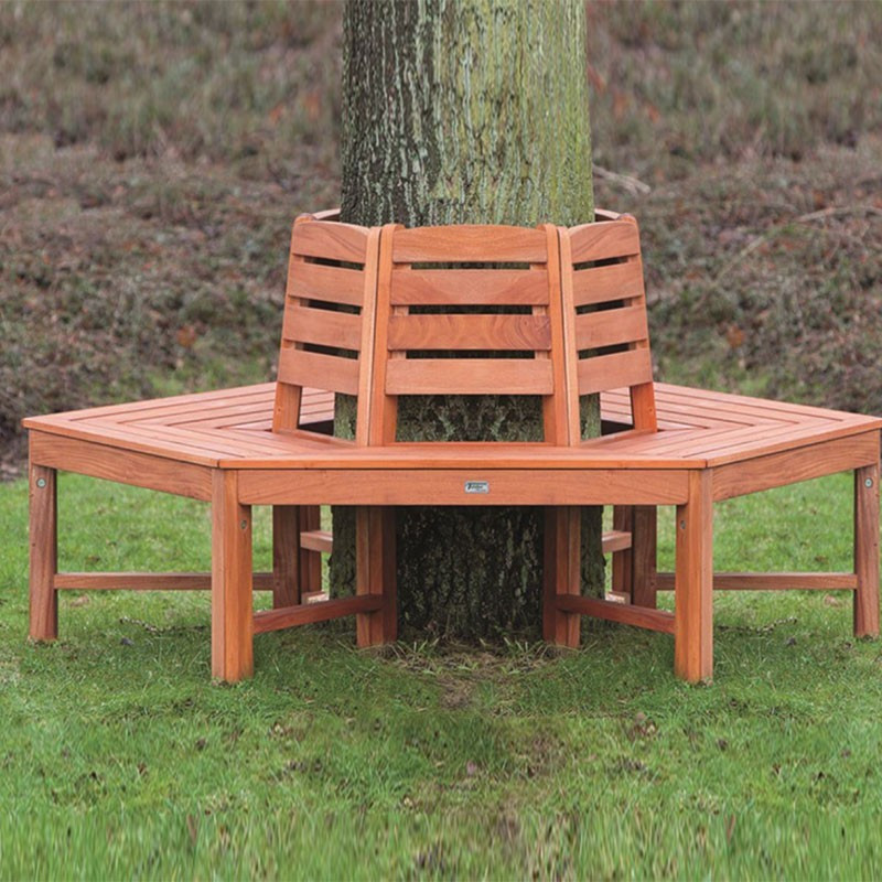 Hardwood tree bench - Tuindeco