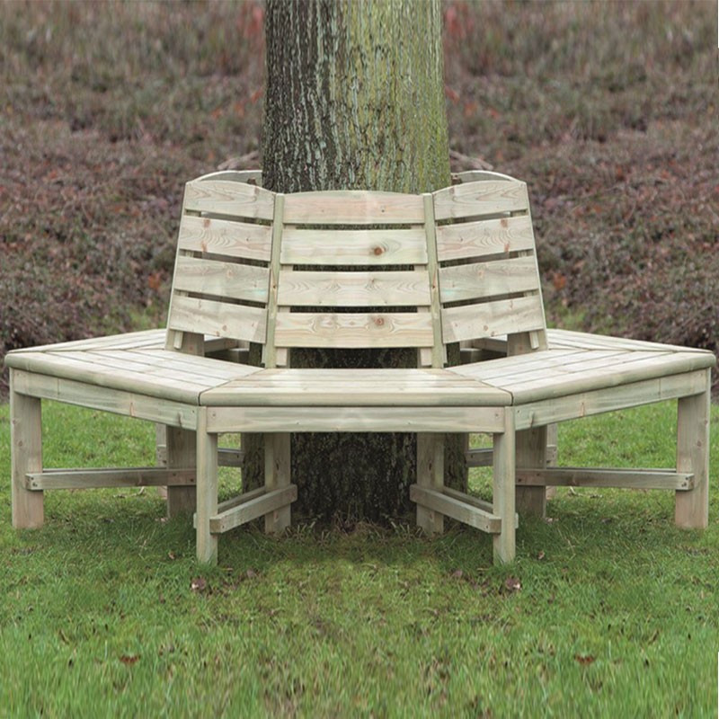 Impregnated tree bench - Tuindeco
