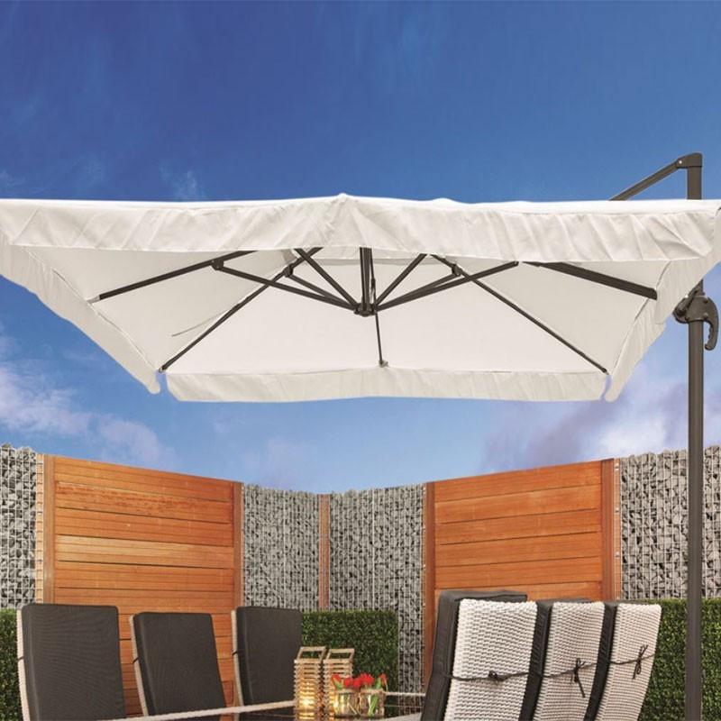 Off-white Brest parasol 360° - Tuindeco