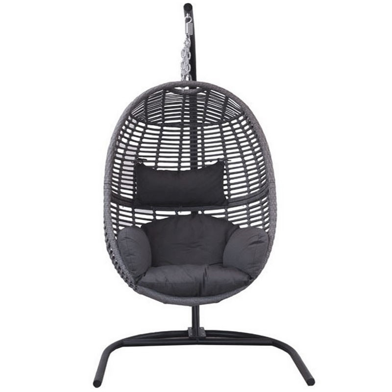 Pisa hanging chair with cushions and headrest - Tuindeco