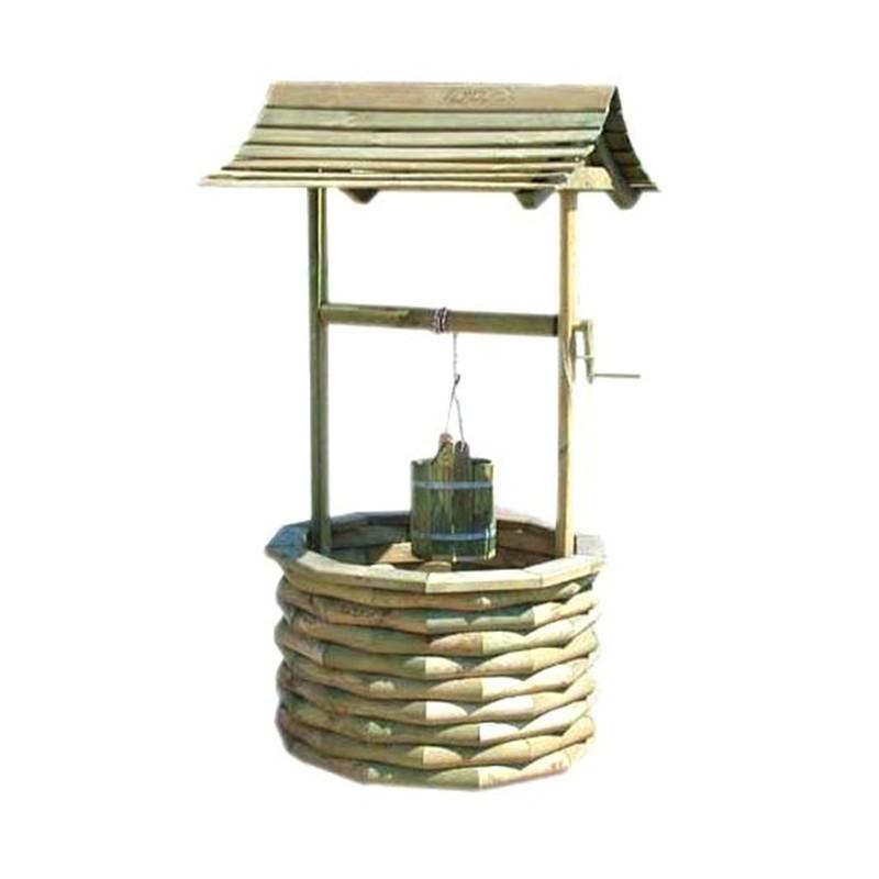 Wooden well Ø100xh180cm - VG garden