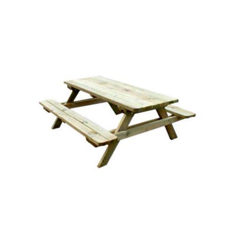 Wooden picnic table 150x131x70,5cm - VG garden