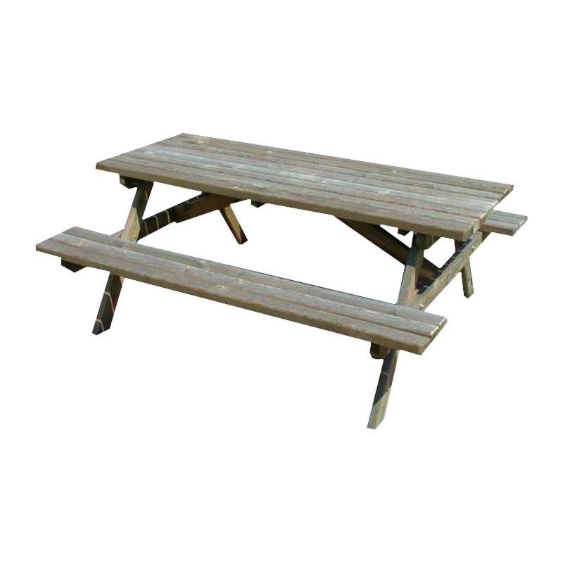 Wooden picnic table 180x150x70cm - VG garden