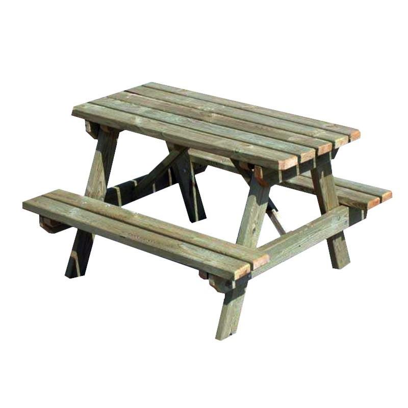 Children's wooden picnic table 90x90x56cm - VG garden
