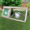 Hutch triangular wooden 50x100xh50cm - VG garden