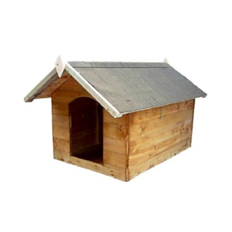 Wooden dog house S with you openable - 60x75x68cm - VG garden