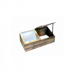 Potager en bois  avec vitre plexi 100x50x34/26cm - VG garden