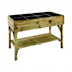 Potager en bois sur pieds 8 cadres 120x60x87cm - VG garden