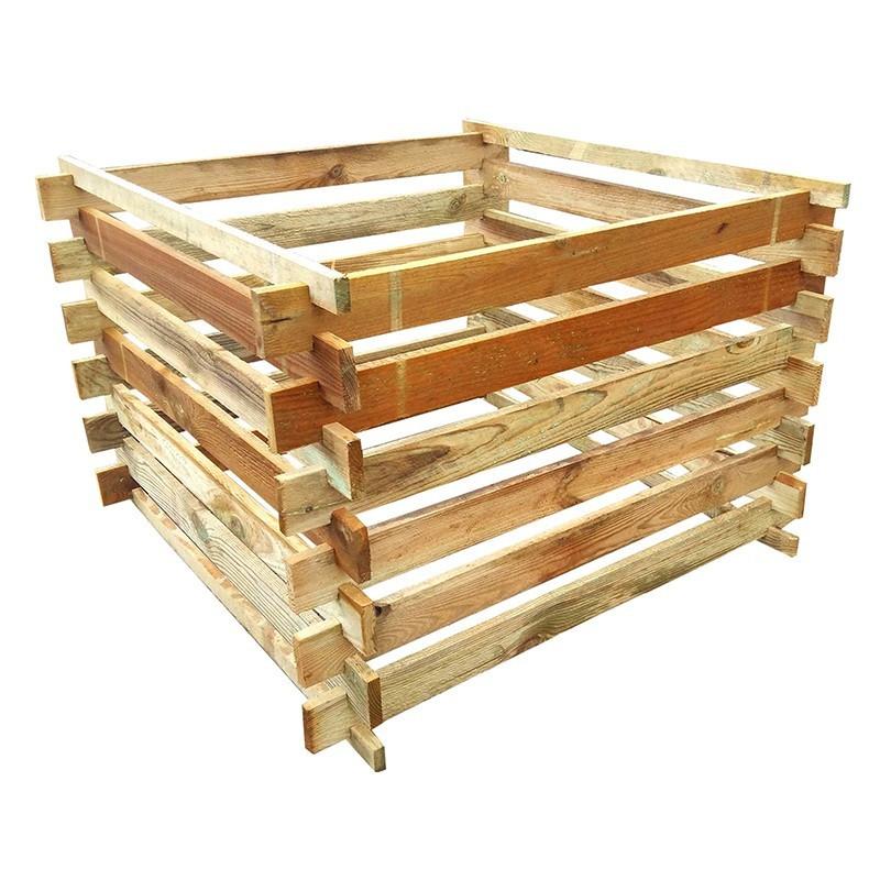 Wooden compost bin 100x100xh69cm - VG garden