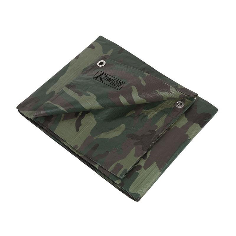 Camouflage tarpaulin 1.8x3m 130g/m² - Ribiland