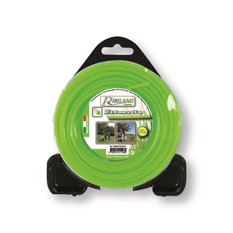 Square wire for brushcutter 15m - ø2.4mm - Ribiland