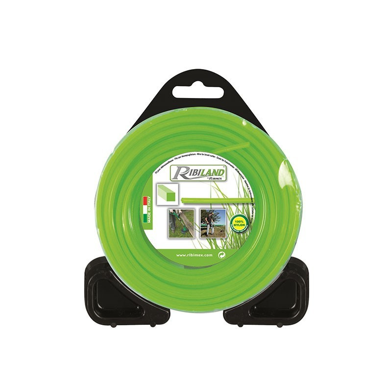 Square wire for brushcutter 15m - ø3mm - Ribiland