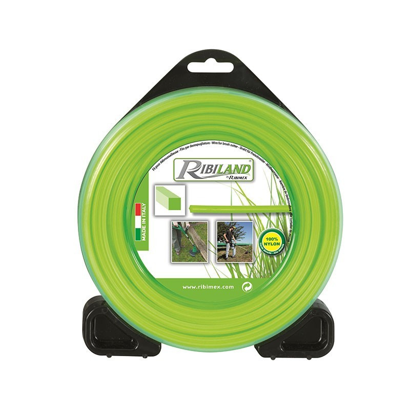 Square wire reel for brushcutter 70m - ø2.4mm - Ribiland