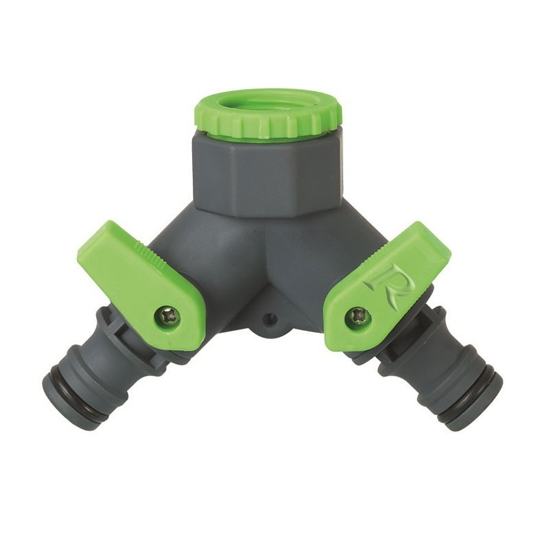 2 outlet tap connector 3/4 - 1/2 - Ribiland