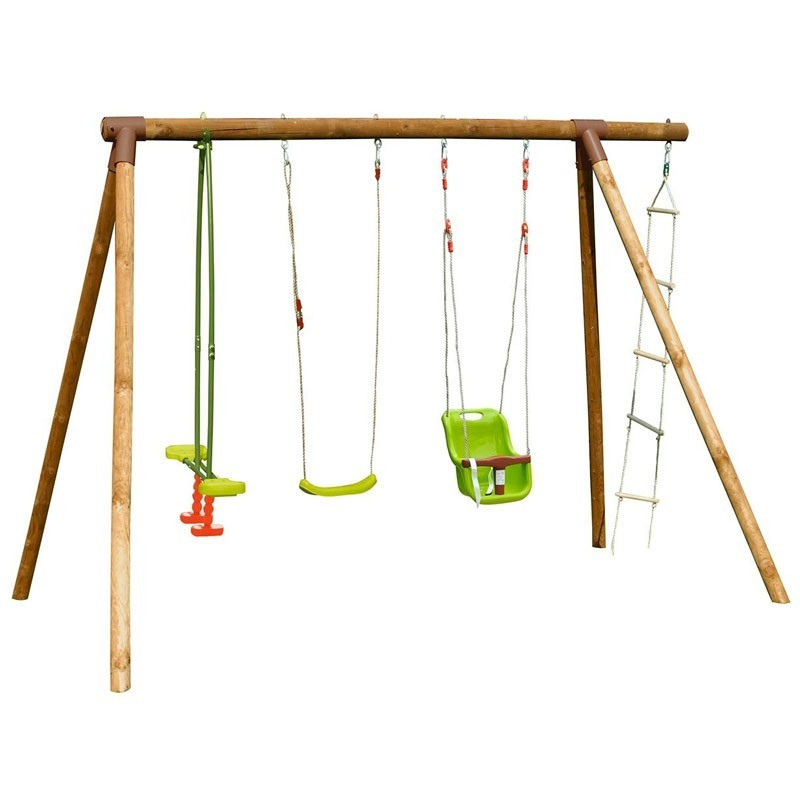 Tamarin Gantry - 3 swings with baby seat and ladder - Soulet