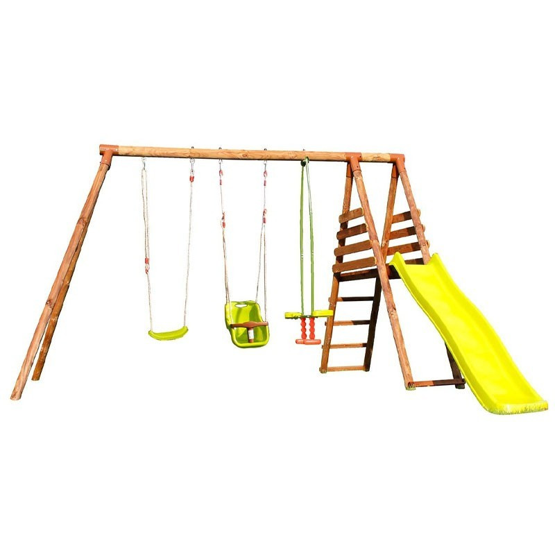 Station Arum - 3 swings with baby seat + slide - Soulet